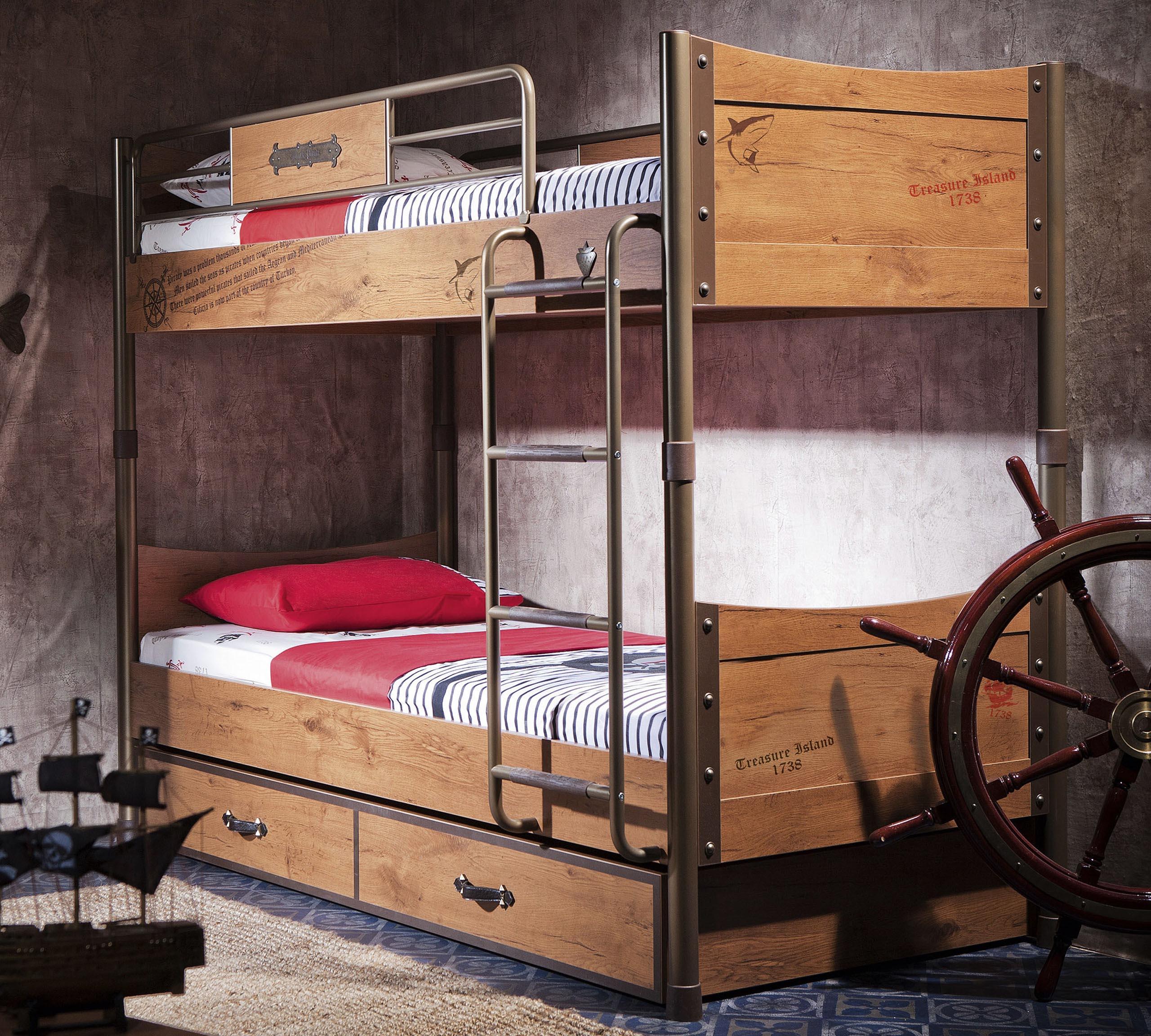 28ab8e791548 detail Detská poschodová posteľ BLACK PIRATE (90x200 cm)