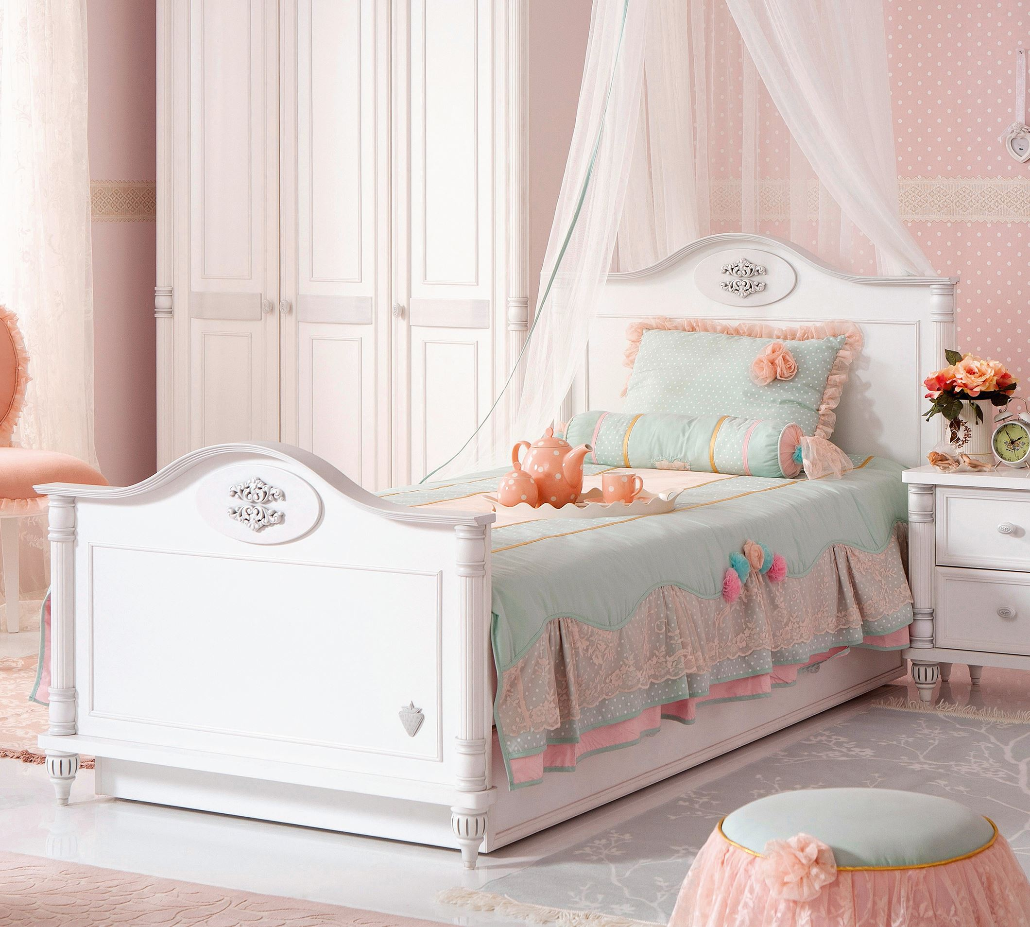 tudentsk poste l romantic 100x200 cm cilek. Black Bedroom Furniture Sets. Home Design Ideas